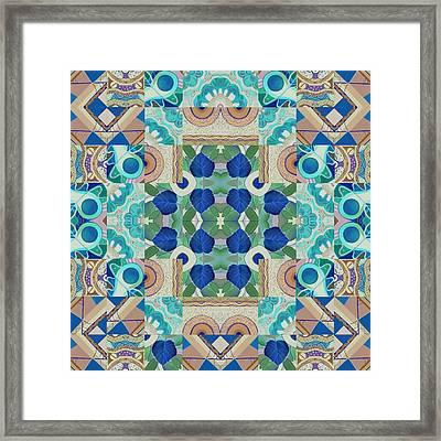 T J O D Mandala Series Puzzle 5 Arrangement 2 Inverted Framed Print by Helena Tiainen