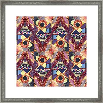 T J O D Tile Variations 12 Framed Print by Helena Tiainen