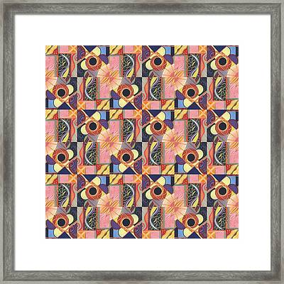 T J O D Tile Variations 16 Framed Print