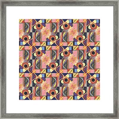 T J O D Tile Variations 16 Framed Print by Helena Tiainen