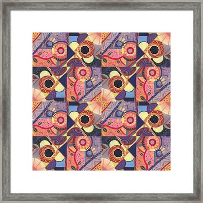 T J O D Tile Variations 18 Framed Print by Helena Tiainen