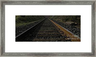 Framed Print featuring the photograph T Rails by Janice Westerberg