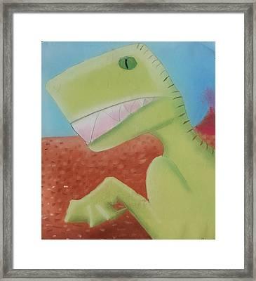 Dinoart Reptillian  Framed Print
