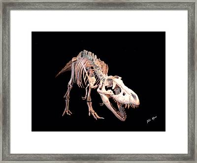 T-rex Framed Print by Tray Mead