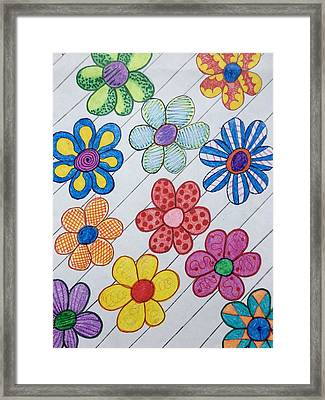 T-shirt Flowers Framed Print
