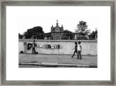 T-shirts For Sale - Cemiterio Do Araca Framed Print by Julie Niemela