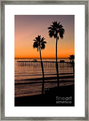 T Street Pier San Clemente California From The Book My Ocean Framed Print