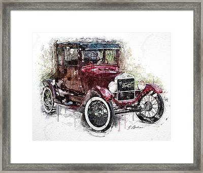 The 1926 Ford Model T Framed Print by Gary Bodnar