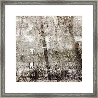 T W Framed Print
