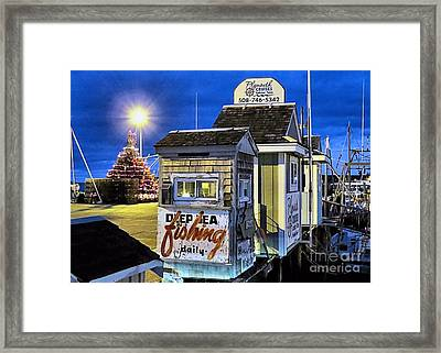T Wharf Plymouth Massachusetts  Framed Print