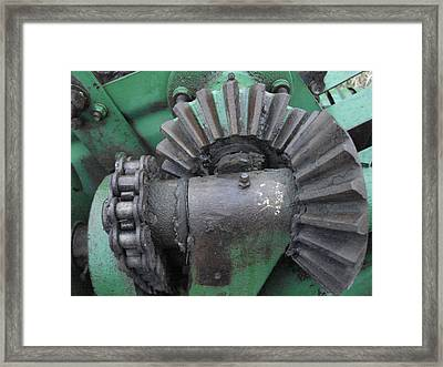 Framed Print featuring the painting T14 John Deere Baler Gear by J L Zarek