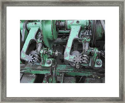 Framed Print featuring the painting T14 John Deere by J L Zarek