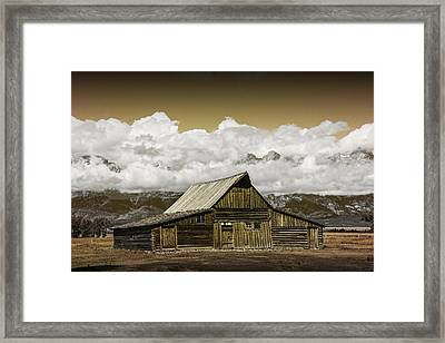 T.a. Moulton Barn In The Grand Tetons Framed Print by Randall Nyhof