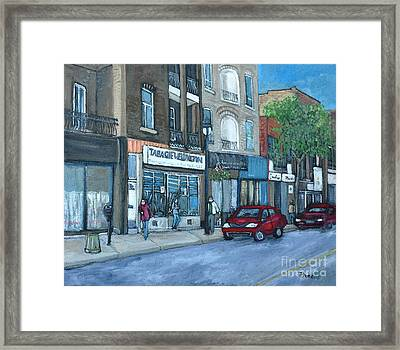 Tabagie Wellington Verdun Framed Print by Reb Frost