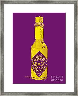 Tabasco Sauce 20130402grd Framed Print by Wingsdomain Art and Photography