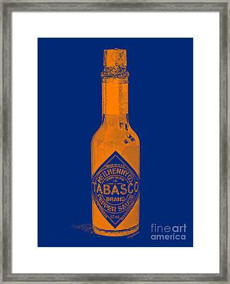 Tabasco Sauce 20130402grd2 Framed Print by Wingsdomain Art and Photography
