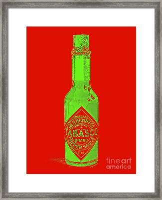 Tabasco Sauce 20130402grd3 Framed Print by Wingsdomain Art and Photography