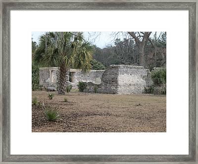 Tabby Ruins Framed Print by Paula Rountree Bischoff