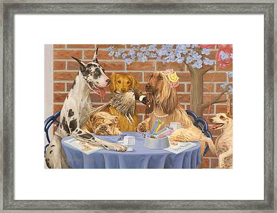 Table 4 Two Framed Print by Victor Powell