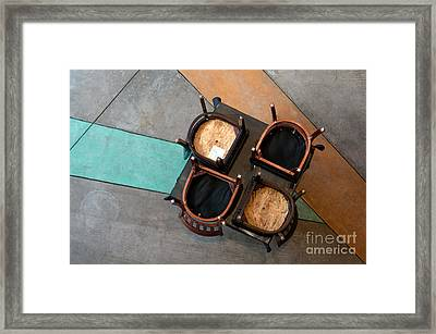 Table And Chairs Framed Print