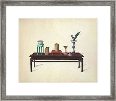 Table And Ornaments Framed Print