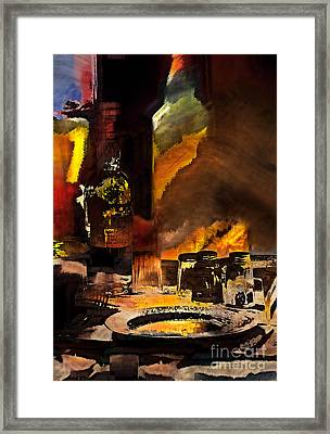 Table For One Framed Print by Barbara D Richards