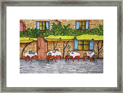 Table For Three Framed Print