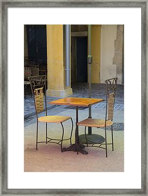 Table For Two Framed Print by Anita Miller