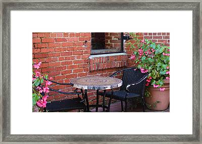 Framed Print featuring the photograph Table For Two by Cynthia Guinn