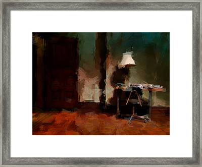 Table Lamp Chair Framed Print
