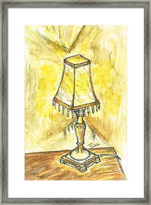 Table Lamp Framed Print by Teresa White