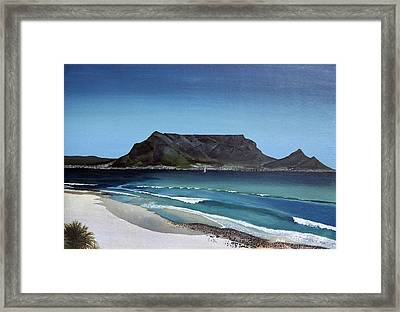Table Mountain Framed Print by Andre Pillay