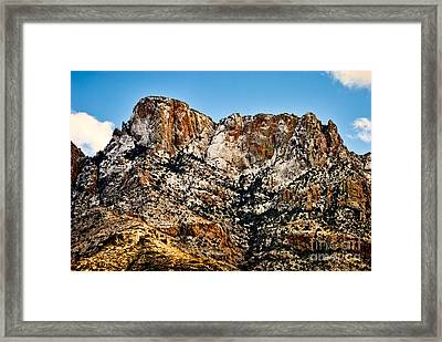 Framed Print featuring the photograph Table Mountain In Winter 42 by Mark Myhaver