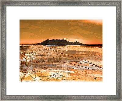 Table Mountain Journal Framed Print by Andre Pillay