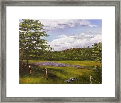 Table Mountain Meadow Framed Print by Darice Machel McGuire