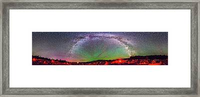 Table Mountain Star Party Panorama 1 Framed Print by Alan Dyer