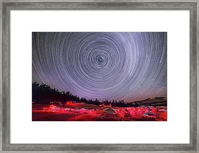 Table Mountain Star Trails-circumpolar Framed Print
