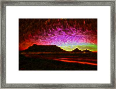 Table Mountain Vector Point Framed Print by Michael Durst