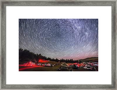 Table Mtn Star Party Circumpolar Star Framed Print