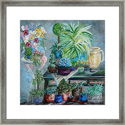 Table Of A Plant Lover Framed Print by Eloise Schneider