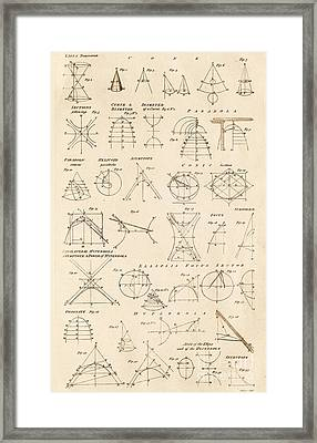 Table Of Conics Framed Print