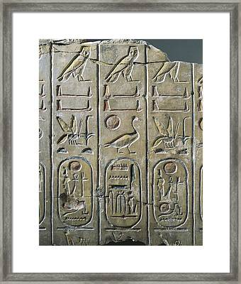 Table Of The Kings. 1270 Bc. 19th Framed Print