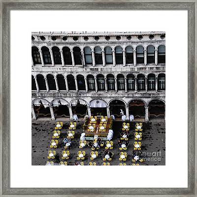 Table Pattern Framed Print by Jacqueline M Lewis