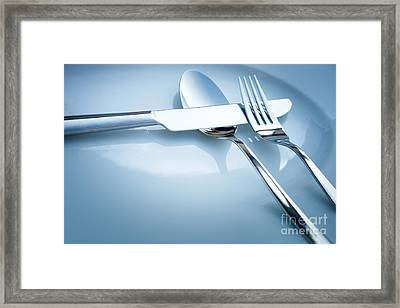 Table Place Setting Framed Print