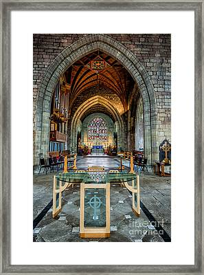Table Reflections Framed Print by Adrian Evans