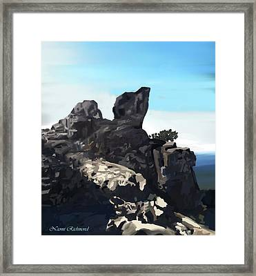 Table Rock Calistoga California Framed Print by Naomi Richmond