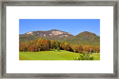Table Rock In Autumn Framed Print