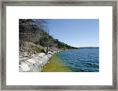 Table Rock Lake Shoreline Framed Print