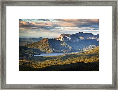 Table Rock Sunrise - Caesars Head State Park Landscape Framed Print