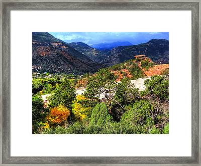 Framed Print featuring the photograph Table Rock To Pike's Peak by Lanita Williams